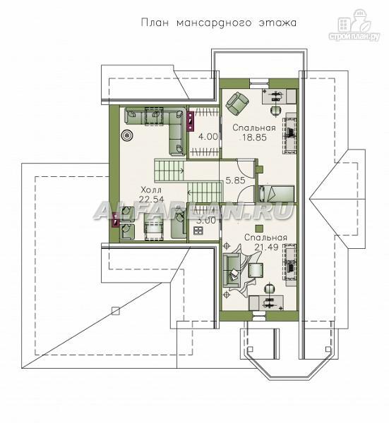 """Фото 4: проект """"Белый ветер"""" - загородный коттедж с жилой мансардой"""