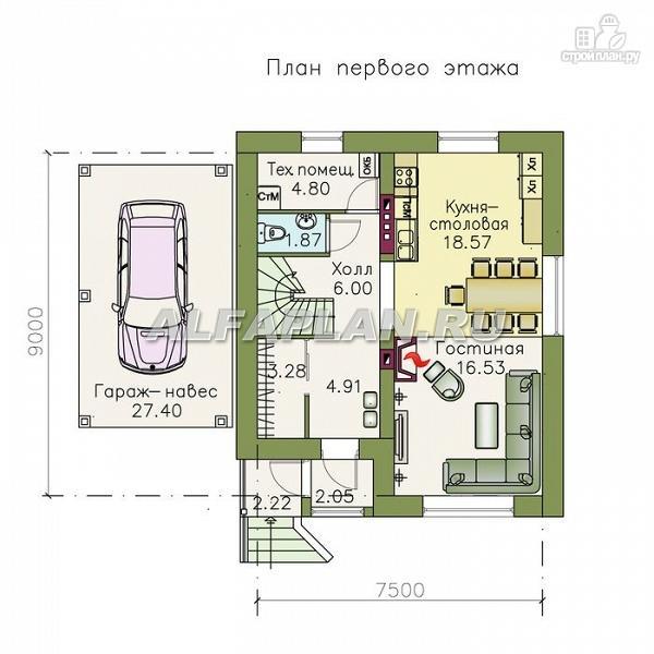 """Фото 2: проект """"Оптима""""- красивый дом для загородного отдыха"""