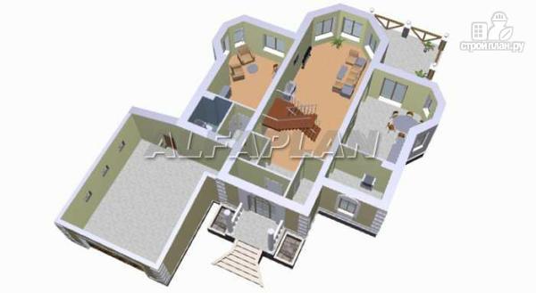 """Фото 5: проект """"Петровское барокко""""- двухэтажный коттедж с гаражом на два автомобиля"""