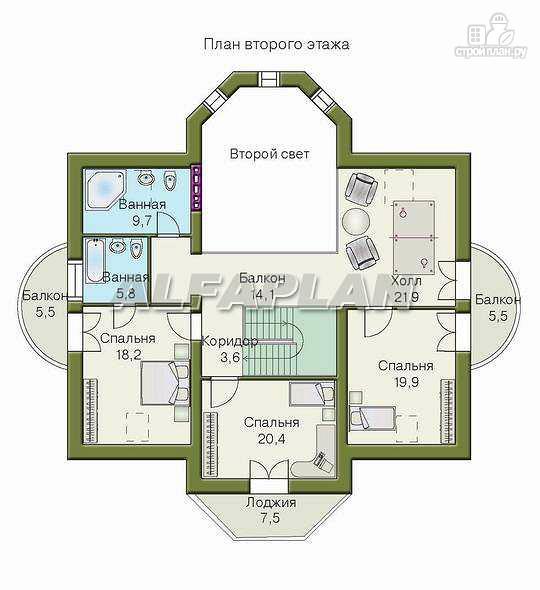 Фото 4: проект «Белта» - двухэтажный коттедж в романтическом стиле