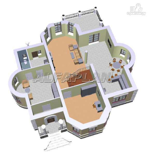 Фото 3: проект «Белта» - двухэтажный коттедж в романтическом стиле