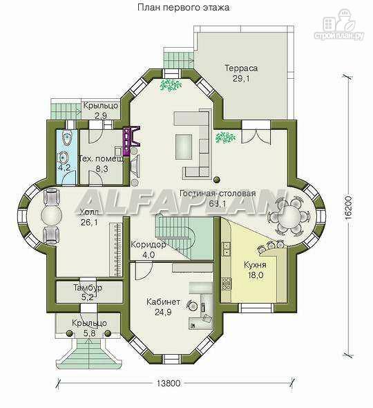 Фото 2: проект «Белта» - двухэтажный коттедж в романтическом стиле