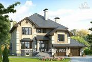 """Проект """"Эвридика""""- красивый загородный дом с гаражом и цокольным этажом"""