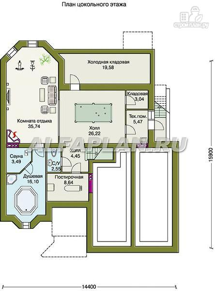 """Фото 2: проект """"Эвридика""""- красивый загородный дом с гаражом и цокольным этажом"""