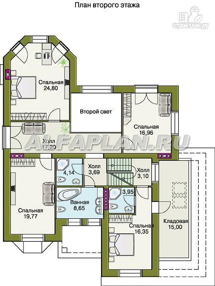 """Фото 4: проект """"Эвридика""""- красивый загородный дом с гаражом и цокольным этажом"""