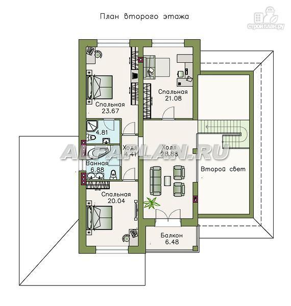 """Фото 3: проект """"Тургенев"""" - загородное поместье с комфортной планировкой"""