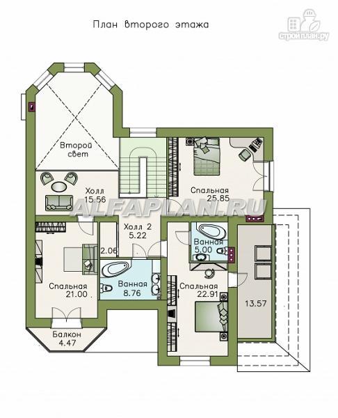 """Фото 3: проект """"Гавань"""" - комфортабельный дом для большой семьи"""