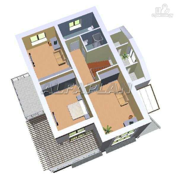 """Фото 7: проект """"Юсупов"""" - особняк с просторной гостиной"""