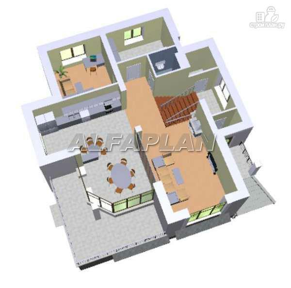 """Фото 5: проект """"Юсупов"""" - особняк с просторной гостиной"""