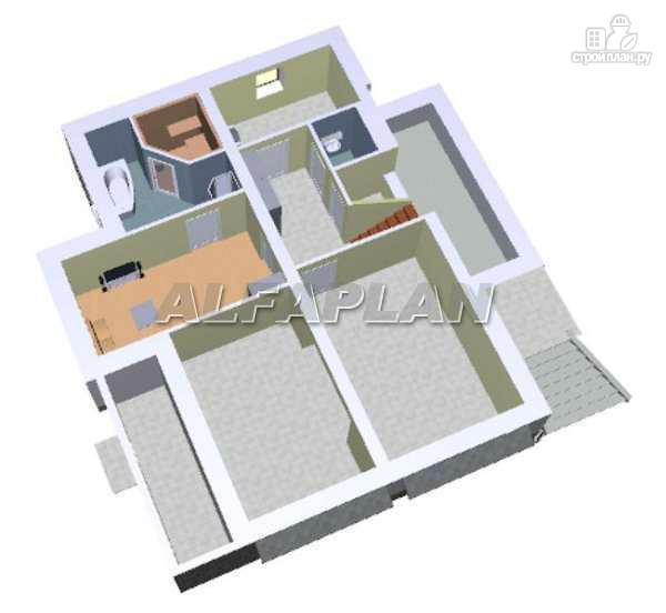 """Фото 3: проект """"Юсупов"""" - особняк с просторной гостиной"""