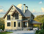 """Проект """"Шевалье"""" - компактный дом с балконом над эркером"""