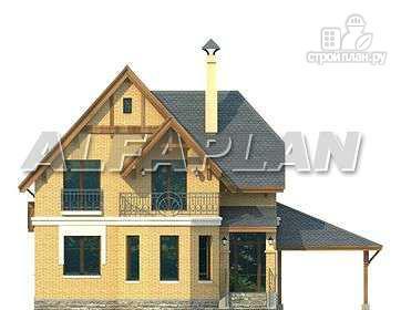"""Фото 7: проект """"Шевалье"""" - компактный дом с балконом над эркером"""