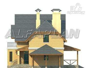 """Фото 10: проект """"Шевалье"""" - компактный дом с балконом над эркером"""
