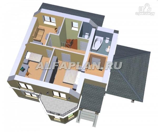 """Фото 6: проект """"Шевалье"""" - компактный дом с балконом над эркером"""