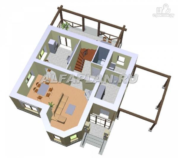 """Фото 4: проект """"Шевалье"""" - компактный дом с балконом над эркером"""