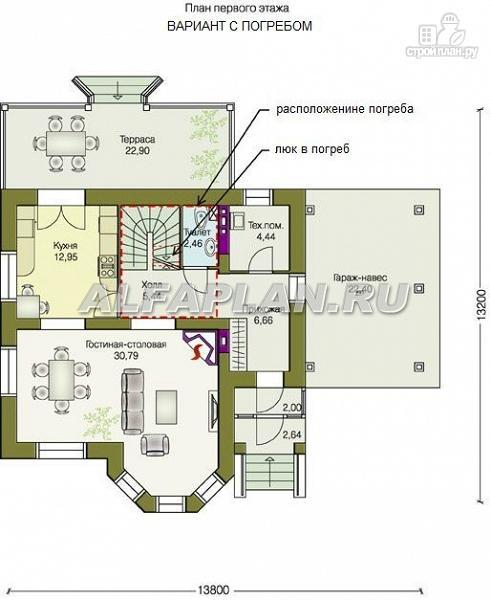 """Фото 3: проект """"Шевалье"""" - компактный дом с балконом над эркером"""