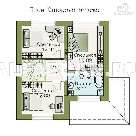 Фото 3: проект компактный дом с отличной планировкой