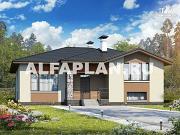 Проект современный полутораэтажный дом