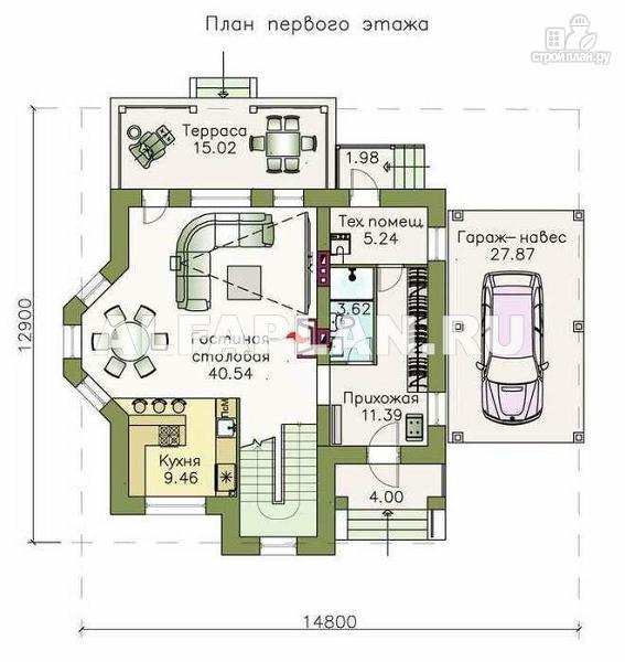 Фото 2: проект компактный дом с удобной планировкой