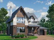"""Проект """"Стелла""""- стильный дом с гаражом для маленького участка"""