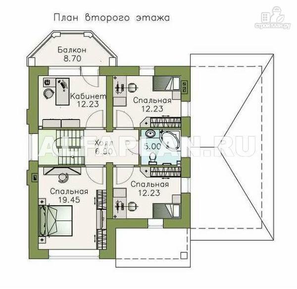 """Фото 3: проект """"Стелла""""- стильный дом с гаражом для маленького участка"""