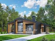 """Проект """"Каппа"""" - небольшой одноэтажный коттедж с террасой"""