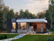 Проект «Дега» - современный одноэтажный дом с плоской кровлей