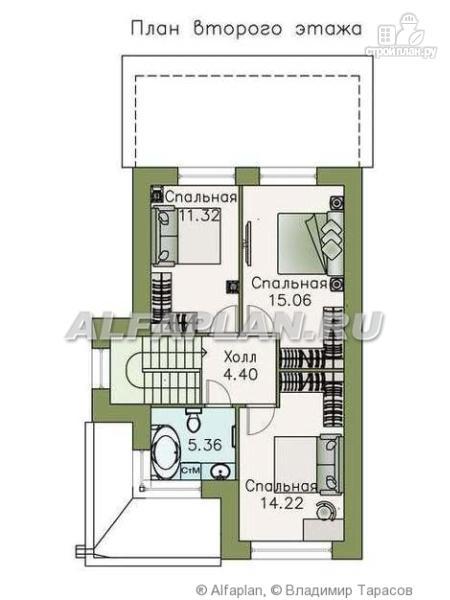 """Фото 3: проект """"Арс"""" - дом с плоской кровлей для узкого участка"""