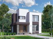 """Проект """"Арс"""" - дом с плоской кровлей для узкого участка"""