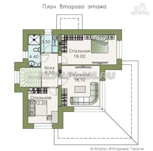 """Фото 3: проект """"Квантум"""" - современный двухэтажный дом с большой террасой"""