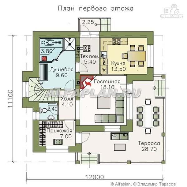 """Фото 2: проект """"Квантум"""" - современный двухэтажный дом с большой террасой"""