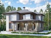 """Проект """"Квантум"""" - современный двухэтажный дом с большой террасой"""