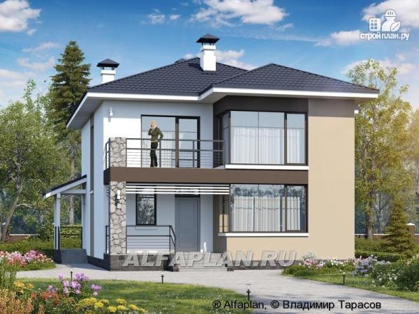 """Фото: проект """"Лотос"""" - проект современного двухэтажного дома"""
