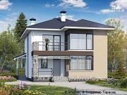 """Проект """"Лотос"""" - проект современного двухэтажного дома"""