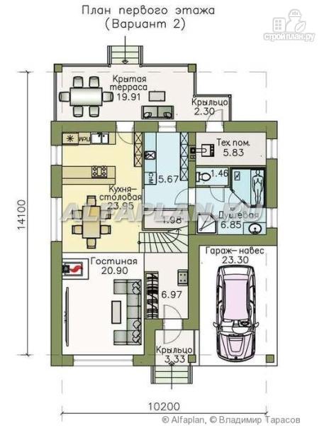 Фото 3: проект «Западный бриз» - рациональный дом с удобным планом
