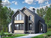 """Проект """"Омега"""" - двухэтажный каркасный дом с пятью спальнями"""