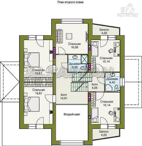 """Фото 6: проект """"Три семерки"""" - трехэтажный загородный особняк"""