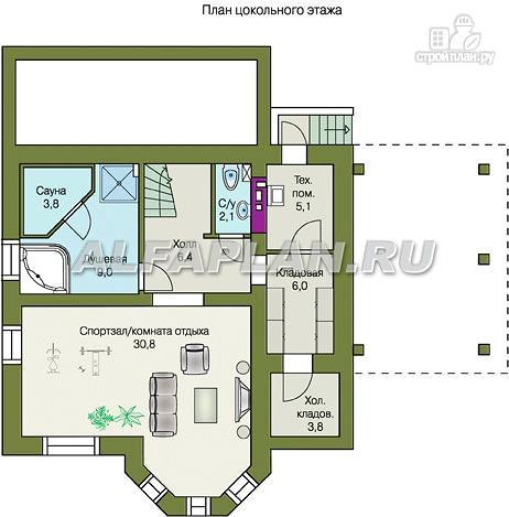 """Фото 7: проект """"Шевалье плюс""""- компактный дом с цокольным этажом"""