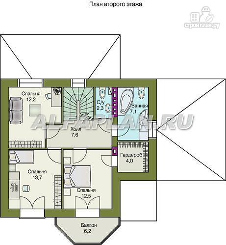 """Фото 9: проект """"Шевалье плюс""""- компактный дом с цокольным этажом"""