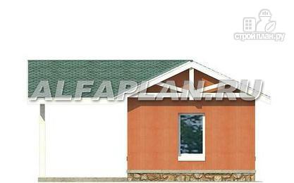 Фото 5: проект гараж с навесом для небольшого участка