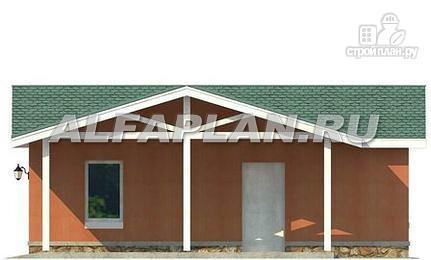 Фото 6: проект гараж с навесом для небольшого участка