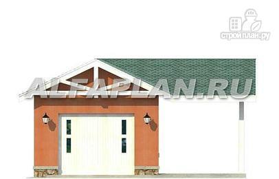 Фото 3: проект гараж с навесом для небольшого участка