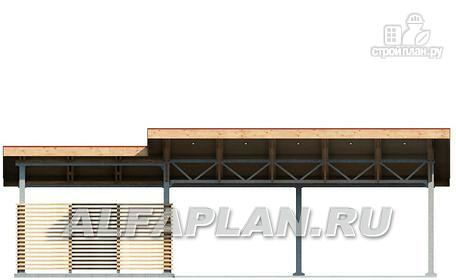 Фото 3: проект гараж-навес на два автомобиля