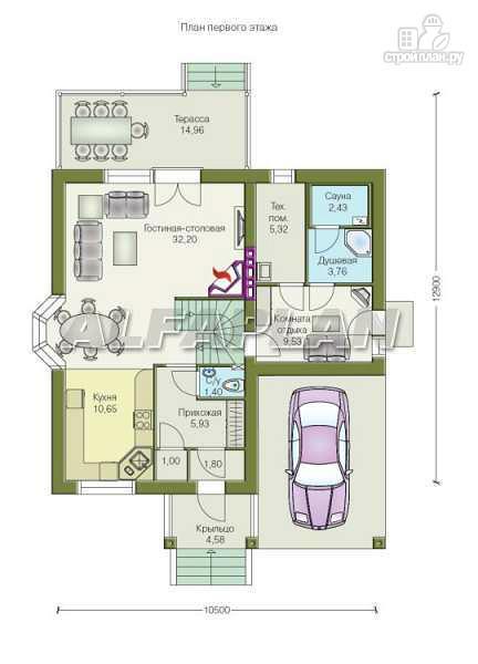 """Фото 6: проект """"Премьера"""" - компактный дом с навесом для машины"""
