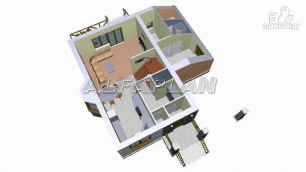 """Фото 7: проект """"Премьера"""" - компактный дом с навесом для машины"""