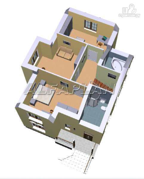 Фото 9: проект «Вива» - коттедж для узкого участка