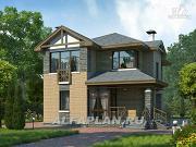 Проект компактный двухэтажный дом для неболшьшого участка