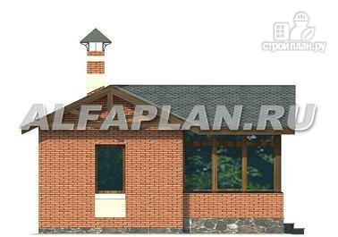 Фото 4: проект баня с уютной верандой