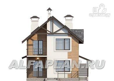 """Фото 6: проект """"Гольфстрим"""" - дом для очень узкого участка"""