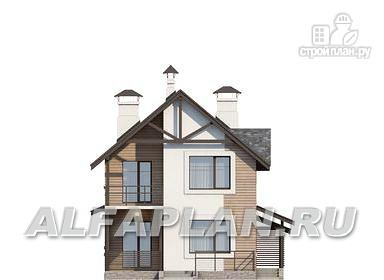 """Фото 6: проект """"Гольфстрим"""" - дом с навесом для 2-х машин для узкого участка"""